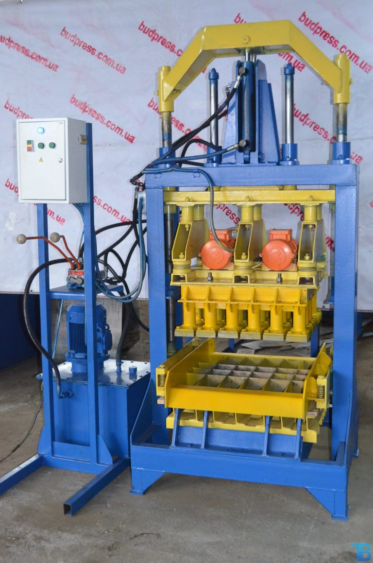 гидравлический станок для производства шлакоблока