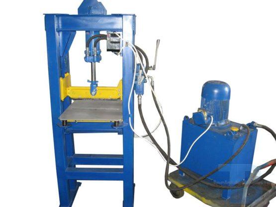 Гильотина для производства рваного (колотого) блока, кирпича. фото 2